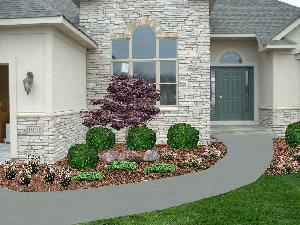 Front Entrance Design garden design: garden design with front entrance landscape home
